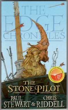"""Chris Riddell's illustrated book cover. One of the series of """"The Edge Chronicles"""""""