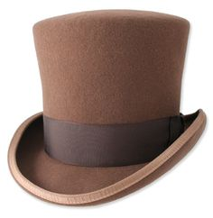 """The finishing touch to your finest ensemble. Our formal topper is durable yet elegant. The hat rises a full 6.5"""". The brim is 2.5"""" in the back and front and is curled on the side. The fine grosgrain ribbon is 2"""" wide and is tied in a small, flat bow tie on the side."""