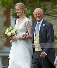 Rosie Ruck Keene arrives at the church of St Mary the Virgin in Ewelme for her wedding on May 11, 2013 near Oxford, England.