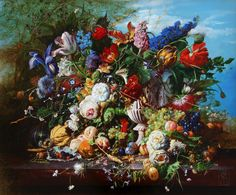Enjoy our large collection of Gyuka Siska Original Oil Paintings. Siska's highly detailed florals are reminiscent of old master paintings. Old Master, Floral, Artist, Artwork, Painting, Collection, Work Of Art, Artists, Paintings