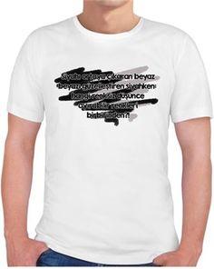 İyiTriloji - Siyah Beyaz - Kendin Tasarla - Erkek Bisiklet Yaka Tişört