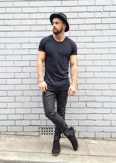 blackout shop: boots jeans hat