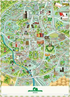 Madrid Recycling Map - Mapa de reciclaje de Madrid on Behance