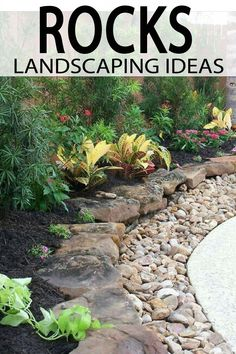 Landscape Rock Ideas for your Yard Rock is a landscaper's best friend. Because it is quick, easiest and add depth, texture, and (best of all) maintenance-free interest to your property. Check out these great ideas using rock in your yard! Mulch Landscaping, Landscaping With Rocks, Front Yard Landscaping, Landscaping Ideas, Mulch Ideas, Colorado Landscaping, Landscaping Borders, Hydrangea Landscaping, Modern Landscaping