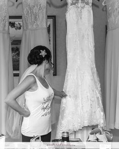 Old Orchard Inn, bride looking at her wedding gown. Old Orchard Inn, Photographer Portfolio, Bride Getting Ready, Fine Art Wedding Photography, Engagement Photos, Real Weddings, One Shoulder Wedding Dress, Wedding Gowns, Photographers