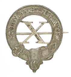 British; 10th Bombay Light Infantry, Officer's Pagri badge, silver plated. 10th Bombay Native(Light Infantry) became 10th Bombay(Light ) Infantry in 1885, 10th Bombay Light Infantry in 1901 & 110th Mahratta Light Infantry in 1903. In 1922 reorganisations became 3rd/5th Mahratta Light Infantry. Assigned to India on partition.