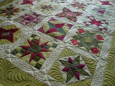Star sampler quilted by Margaret Solomon Gunn