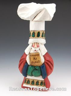 Chef Santa--Dave Francis Chef Santa. Hand carved and hand painted by Dave. Signed