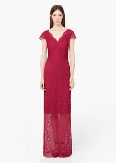 Šaty z krajky guipur - Šaty for Žena   MANGO