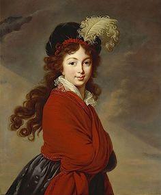 ca. 1795 Princess Juliane of Saxe-Coburg-Saalfeld by Élisabeth Louise Vigée-Lebrun (destroyed by aerial bombardment in World War 2) From ericab16s 1795-1816 Regency album on webshots
