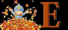 autumn leaves gif | Autumn Fall Boy Child Alphabet Animated Falling Leaves Gif gif by ...