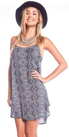 df25f60ef9 Tiare Hawaii  2015 Skye  Dress -  Black White Yukatan Blouse Dress