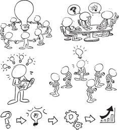 Rostro de caracteres con Ideas