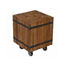 Ozzy bijzettafel teak hout € 69,=