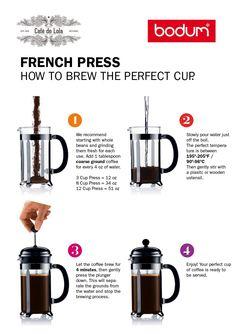 ¿Ya sabes como hacer un café en prensa?  Prensas en www.cafedelola.com