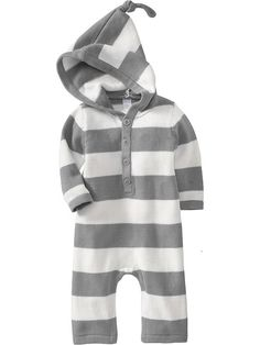Old Navy Hooded Sweater One Pieces For Baby