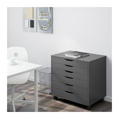 ALEX Drawer unit on casters - gray - IKEA