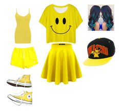 """Yellow and happiness!☺️🌞"" by smilelykristenjoy on Polyvore featuring BKE core, The North Face and Converse"