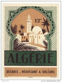 Etiquette vin Algérie 12° Desbois Négociant Orléans