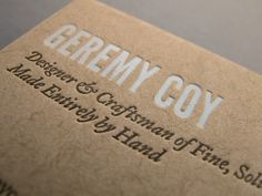 Geremy Coy Business Card