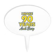 90 YEARS OLD BIRTHDAY DESIGNS CAKE TOPPER