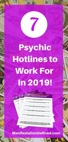 Learn which psychic hotline to work for as a psychic reader, tarot reader and spiritual advisor. Grab your copy of the Top 7 Psychic Hotlines when you opt-in and provide your email. Spiritual Advisor, Spiritual Practices, Psychic Hotline, Psychic Development, Law Of Attraction Tips, Tarot Spreads, Tarot Readers, Creating A Business, Psychic Abilities