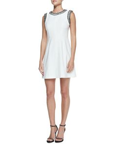 Abbie Sleeveless Embellished Bodice Dress at CUSP.