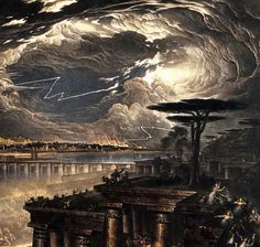 John Martin, The fall of Babylon; Cyrus the Great defeating the Chaldean, detail 1831 on ArtStack #john-martin #art