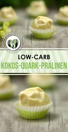 Die Kokos-Quark-Pralinen sind low-carb, lecker und eine tolle Geschenkidee.