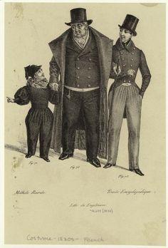 [Men and a boy, France, 1830s.] Men -- Clothing & dress -- France -- 1830-1839