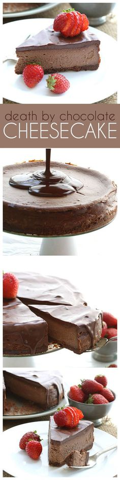 This low carb, intensely chocolate cheesecake may be the ultimate keto dessert recipe. Grain-free, low carb chocolate lovers' dream!