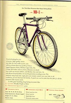 Bridgestone Bicycles 1993 Catalogue page 39