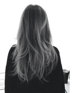 grey meches hair - Cerca con Google