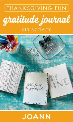 Introduce new habits and traditions into your Thanksgiving holiday with this Gratitude Journal from JOANN. As a fun and creative kid activity, this creative project is easy to make! Journal Prompts, Writing Prompts, Journal Ideas, Thanksgiving Projects, Thanksgiving Holiday, Creative Activities For Kids, Creative Kids, Joanns Fabric And Crafts, Craft Stores