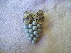 Old and Beautiful Vintage Grape Cluster Scarf Clip