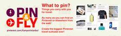 Pin& Fly - What to Pin?/ Koh Samui'ye neler neler götürmek istediğinizi hayal edin doldurun Pin & Fly boardunuzu! Limit yok! @Kanyonistanbul
