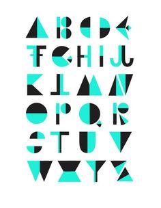 FLIP! Alphabet by Michelle Carlslund, via Behance