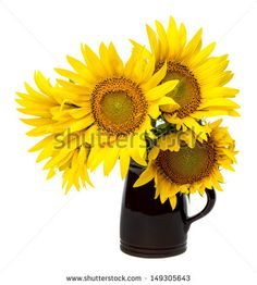 Stock Images similar to ID 64202269 - sunflowers and vase bright...