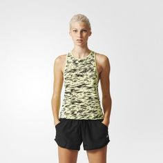 Women's Workout Tank Top - Semi Frozen Yellow