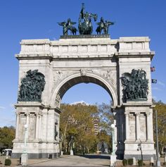 Prospect Park & Vicinity - New York City, New York - Grand Army Plaza - Soldiers and Sailor's Memorial Arch Monument