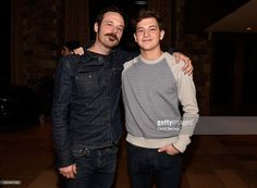 Actors Scoot McNairy (L) and Tye Sheridan attend the Mosaic reception at the RAND Luxury Lounge during 2017 Sundance Film Festival at The St. Regis Deer Valley on January 22, 2017 in Park City, Utah.