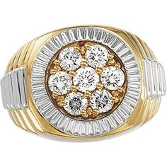 Gents Gold Ring Diamond 1.50 CTS!