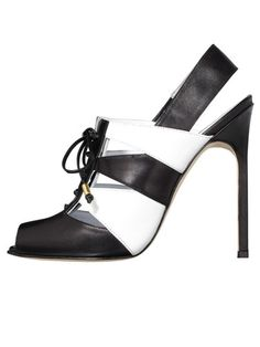 Black and White - Shop the Trend  Manolo Blahnik for Bill Blass shoe, $945, 212-582-3007.      Read more: Black and White Clothing 2012 - Black and White Fashion Trend - Harper's BAZAAR