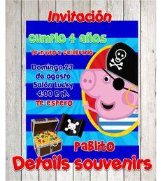 INVITACIONES DE GEORGE PIG DISEÑO Y CREACION DE INVITAION DE FIESTAS   DETAILS SOUVENIRS FACEBOOK