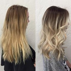 Root Drag : Ombre : Balayage : Cool Blonde :