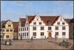 Blich auf den Marktplatz mit Haus des Landgrafen Johannes, 1860