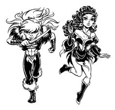 Cutter and Leetah from #Elfquest by Wendy and Richard Pini.