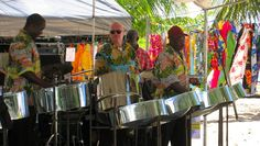 Sweet steel pan music at the Holetown Festival in Barbados. Discover more about the festival at http://barbados.org/holetown.htm