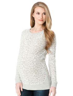 Whetherly Animal Print Maternity Sweatshirt