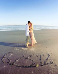 Perfect beach save the date idea!